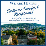We are hiring: Customer Service/ Receptionist